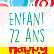 Carte anniversaire enfant 72 ans