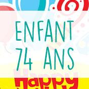 Carte anniversaire enfant 74 ans