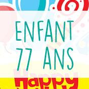 Carte anniversaire enfant 77 ans
