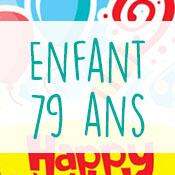 Carte anniversaire enfant 79 ans