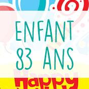 Carte anniversaire enfant 83 ans