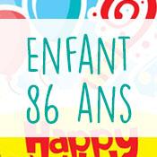 Carte anniversaire enfant 86 ans