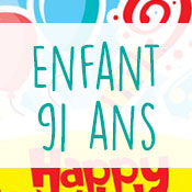 Carte anniversaire enfant 91 ans