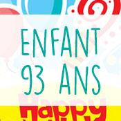 Carte anniversaire enfant 93 ans