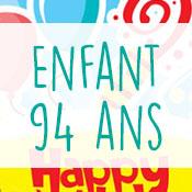 Carte anniversaire enfant 94 ans