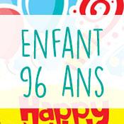 Carte anniversaire enfant 96 ans