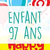 Carte anniversaire enfant 97 ans