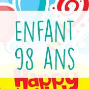 Carte anniversaire enfant 98 ans