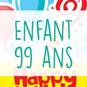 Carte anniversaire enfant 99 ans