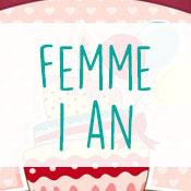 Carte anniversaire femme 1 an
