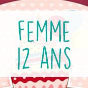 Carte anniversaire femme 12 ans