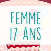 Carte anniversaire femme 17 ans