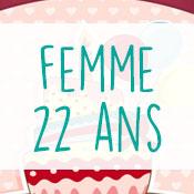 Carte anniversaire femme 22 ans