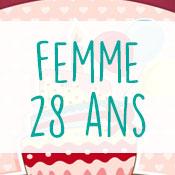 Carte anniversaire femme 28 ans
