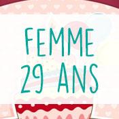 Carte anniversaire femme 29 ans