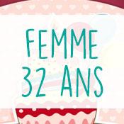 Carte anniversaire femme 32 ans