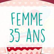 Carte anniversaire femme 35 ans