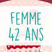 Carte anniversaire femme 42 ans