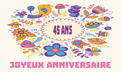 Carte Anniversaire Femme 45 Ans Nanaryuliaortega News