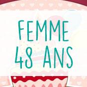 Carte anniversaire femme 48 ans