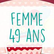Carte anniversaire femme 49 ans