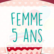 Carte anniversaire femme 5 ans