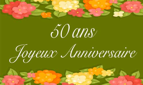 Carte Anniversaire Femme 50 Ans Virtuelle Gratuite A Imprimer Page 2 De 3