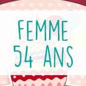 Carte anniversaire femme 54 ans