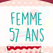 Carte anniversaire femme 57 ans