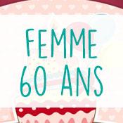 Carte anniversaire femme 60 ans
