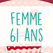 Carte anniversaire femme 61 ans