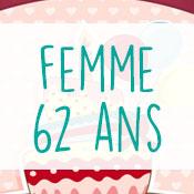 Carte anniversaire femme 62 ans