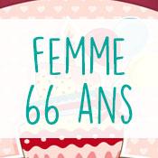 Carte anniversaire femme 66 ans