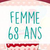Carte anniversaire femme 68 ans