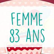 Carte anniversaire femme 83 ans