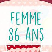 Carte anniversaire femme 86 ans