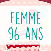 Carte anniversaire femme 96 ans