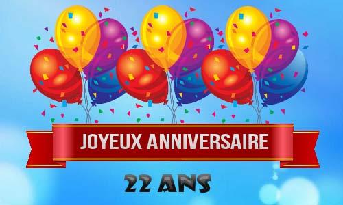 Carte Anniversaire Homme 22 Ans Ballons Ciel