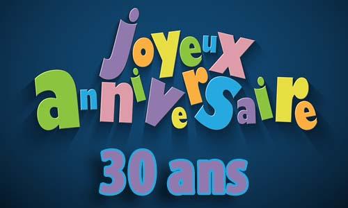 Carte Anniversaire Homme 30 Ans Invitation