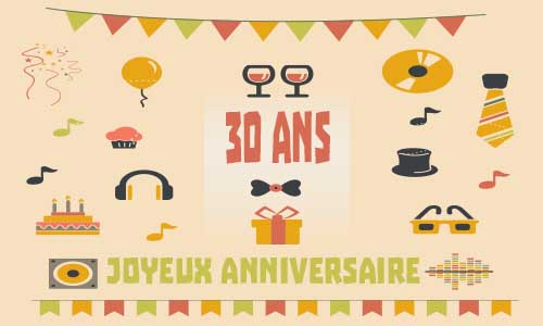 carte anniversaire homme 30 ans musique. Black Bedroom Furniture Sets. Home Design Ideas