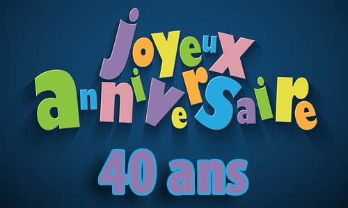 Carte Anniversaire Homme 40 Ans Invitation