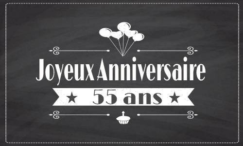 carte anniversaire humour 55 ans gateau cadeau. Black Bedroom Furniture Sets. Home Design Ideas