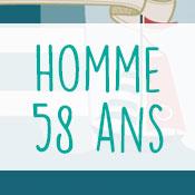 Carte anniversaire homme 58 ans
