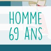 Carte anniversaire homme 69 ans