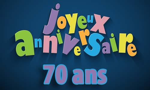 Bien connu Carte anniversaire homme 70 ans invitation AY62