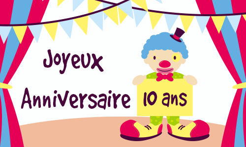 carte anniversaire virtuelle cirque