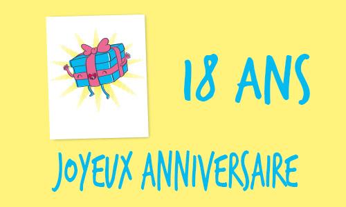 Carte anniversaire humour 18 ans cadeau drole - Cadeau d anniversaire 18 ans ...