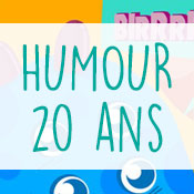 Carte anniversaire humour 20 ans