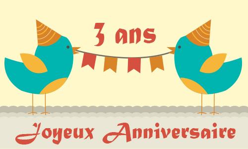 Carte anniversaire humour 3 ans poussin - Anniversaire mariage 4 ans ...