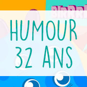 Carte anniversaire humour 32 ans